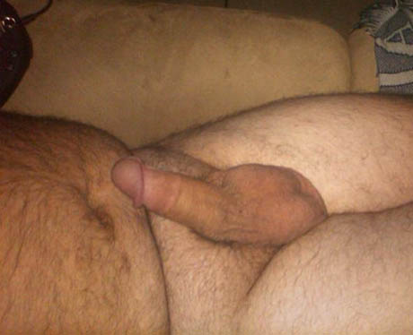 naked with short penis erect Man